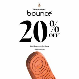 Hush Puppies Promo Diskon 20% Untuk Koleksi Bounce (Selected Item)