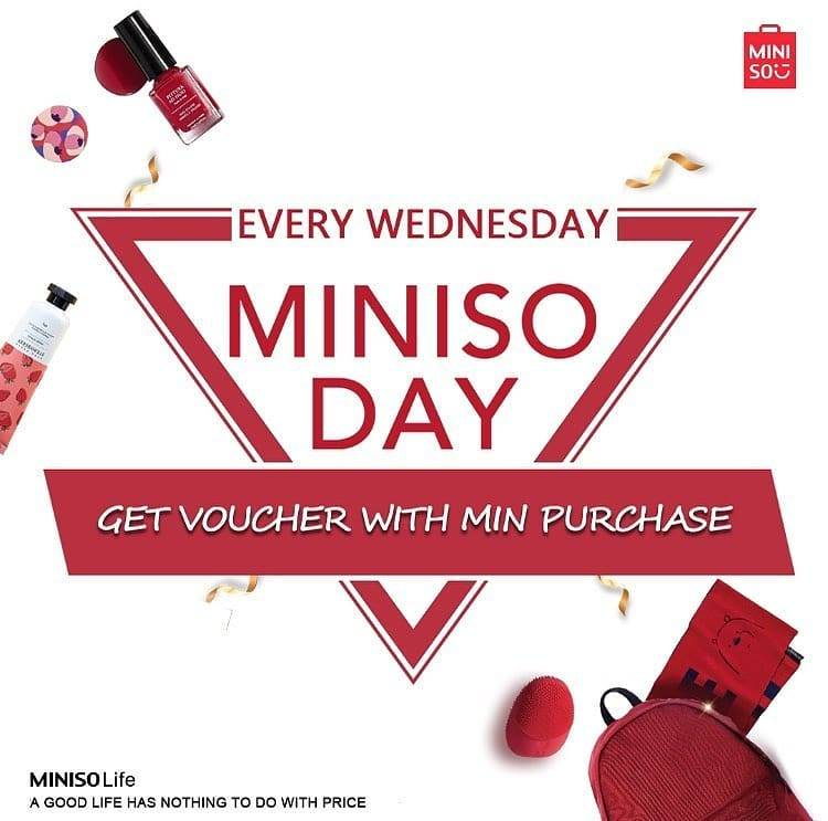 Miniso Wednesday Is Miniso Day, Get Voucher With Min. Purchase