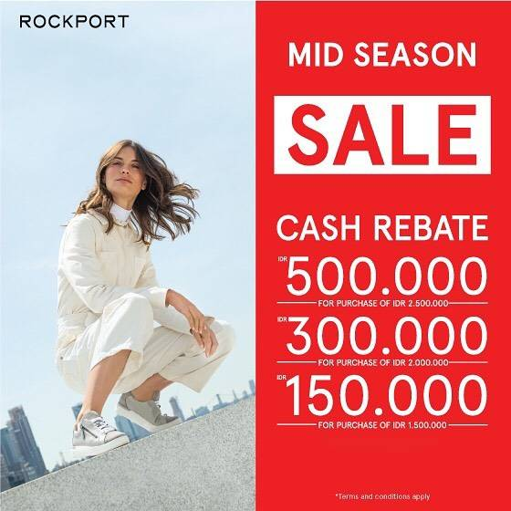 Diskon Rockport Mid Season Sale! Get Cash Rebate up to Rp. 500.000