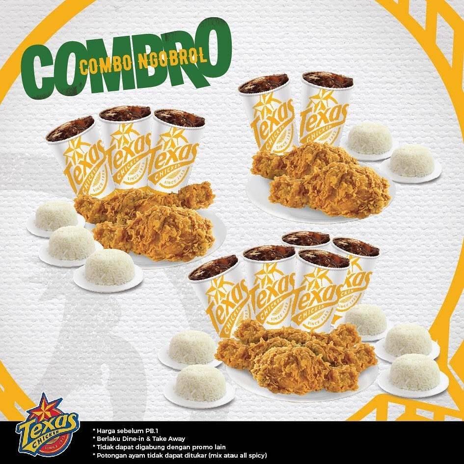 Texas Chicken Promo Combro (Combo Ngobrol) Harga Mulai Dari Rp.36.364