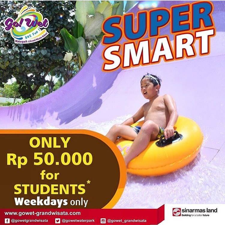 Go Wet Promo Super Smart Only Rp 50.000 For Students