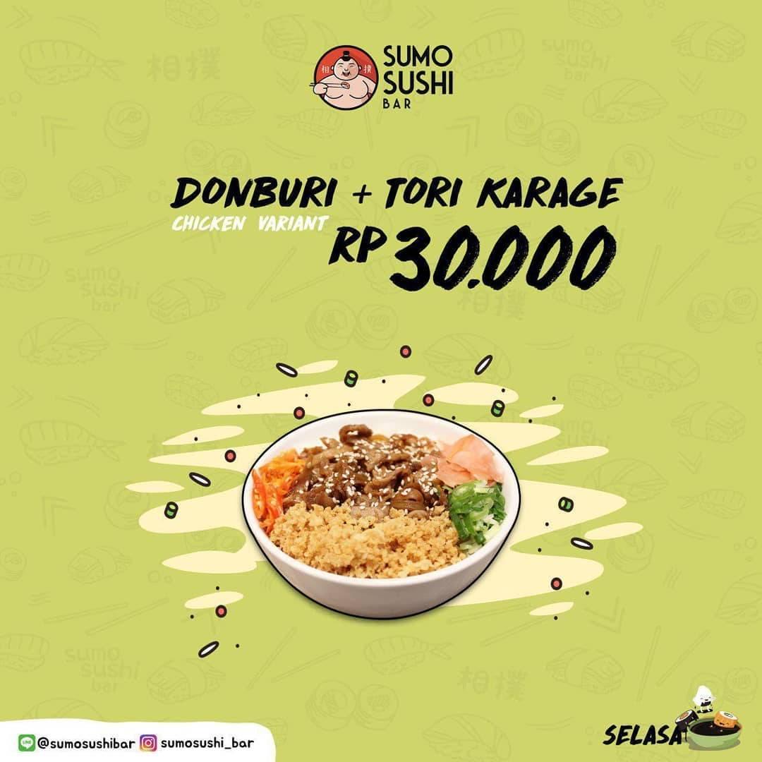Sumo Sushi Promo Donburi & Tori Karaage Only 30.000