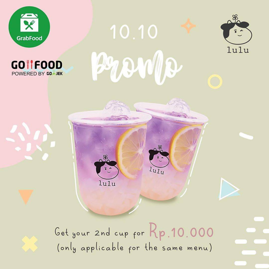 Diskon Drink Lulu Promo Second Cup For Only Rp 10.000