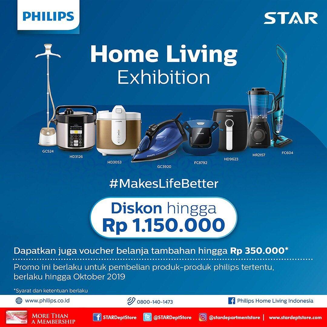 Star Department Store Home Living Exhibition, Diskon Produk Philips Tertentu.
