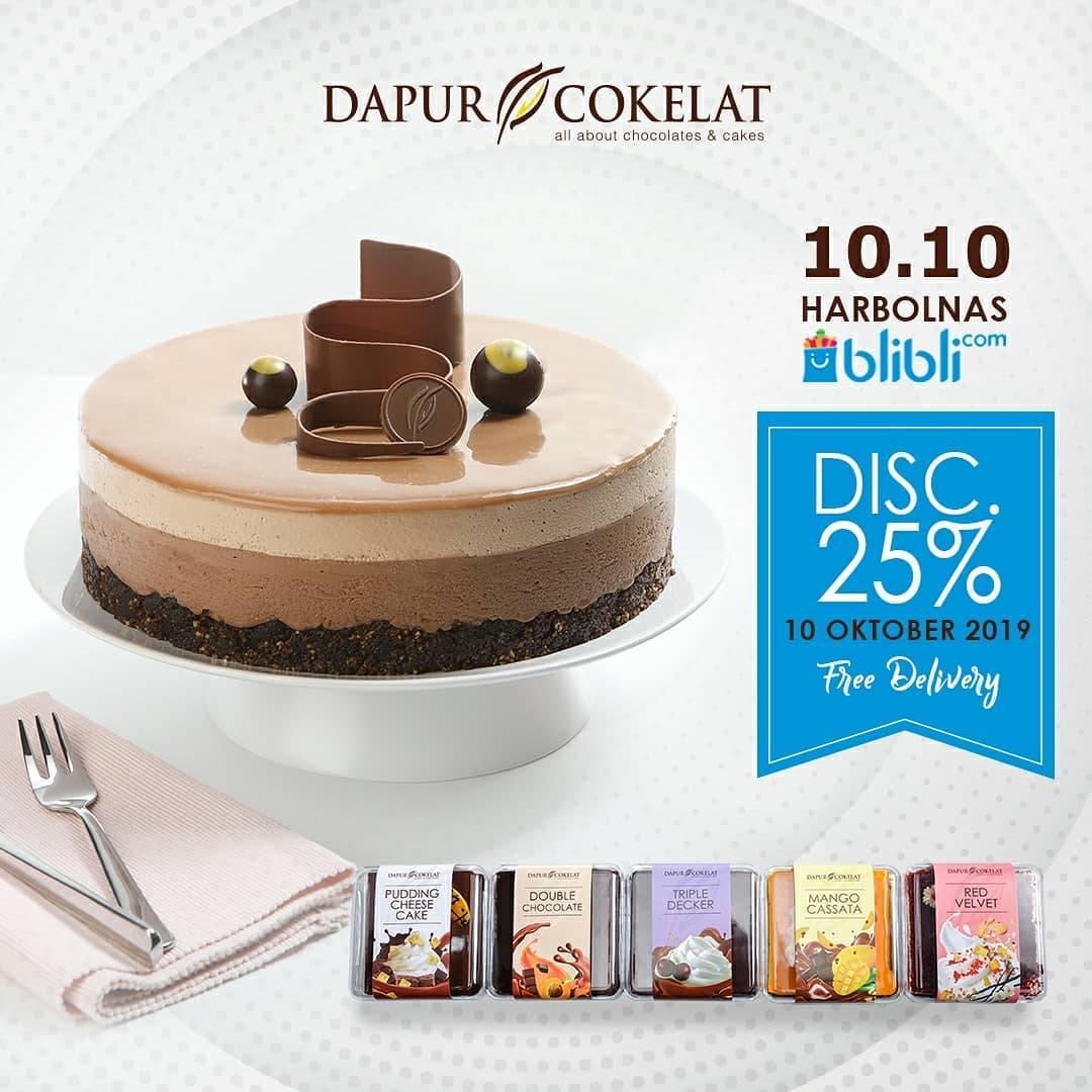 Dapur Cokelat Promo Hari Belanja Online Nasional, Diskon 25% Menu Pilihan