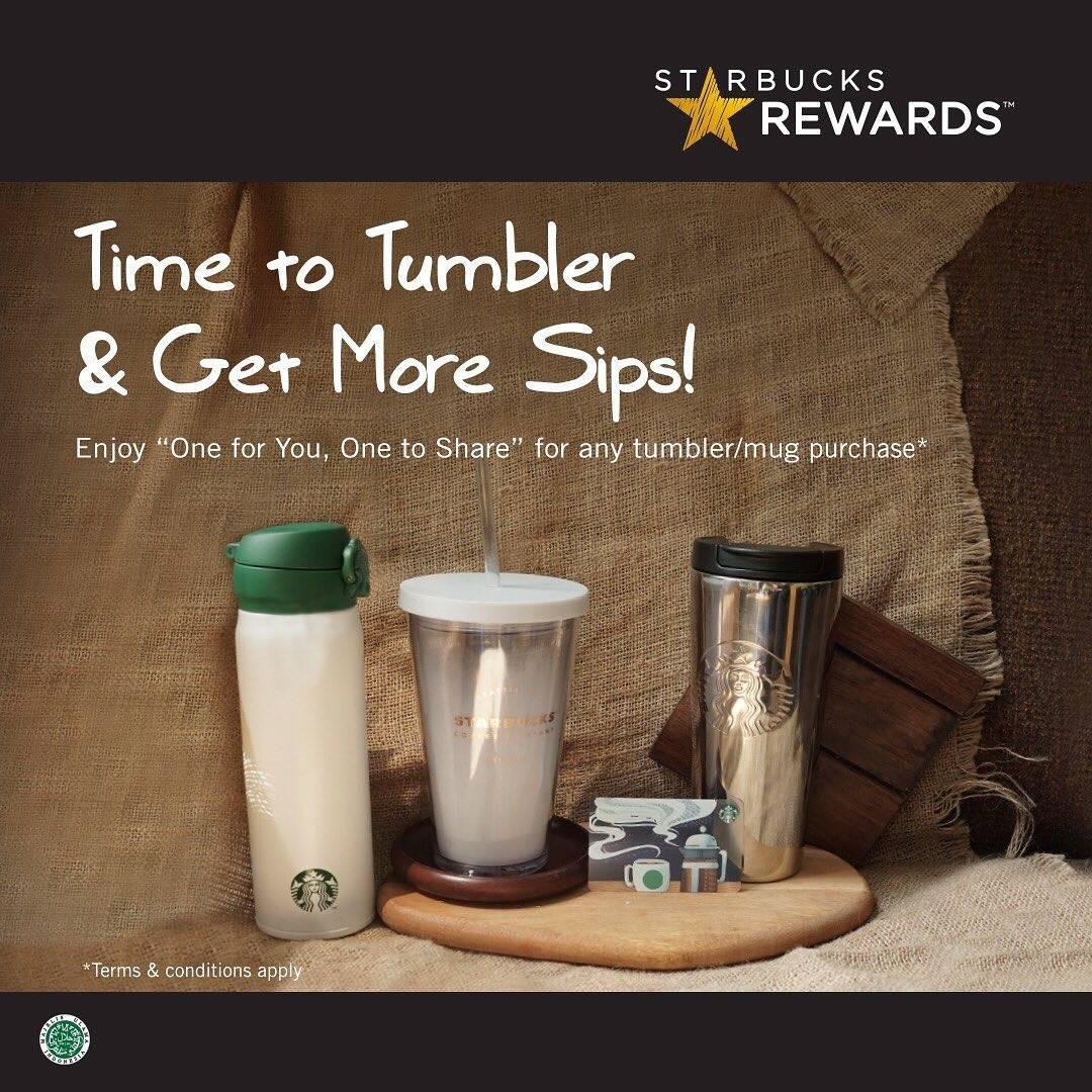 Starbucks Promo Kupon Reward Beli 1 Gratis 1 Setiap Pembelian Tumbler Khusus Starbucks Reward Member