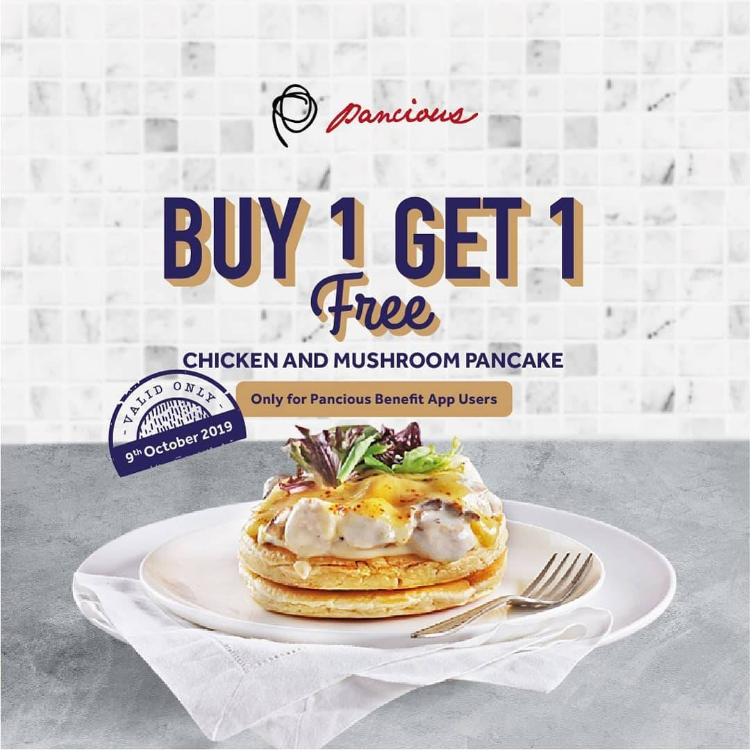 Diskon Pancious Promo Buy 1 Get 1 Free Chicken And Mushroom Pancake