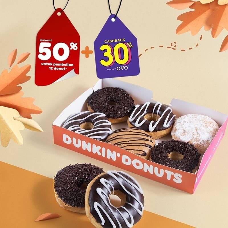 Diskon Dunkin Donuts Promo Diskon 50% Untuk Pembelian 12 Donut Dengan Kupon Line