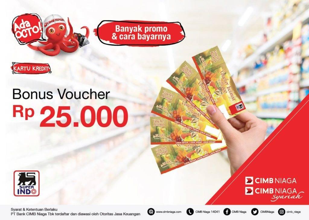 Superindo Promo Gratis Voucher Belanja Rp25.000 Dengan Kartu Kredit CIMB Niaga