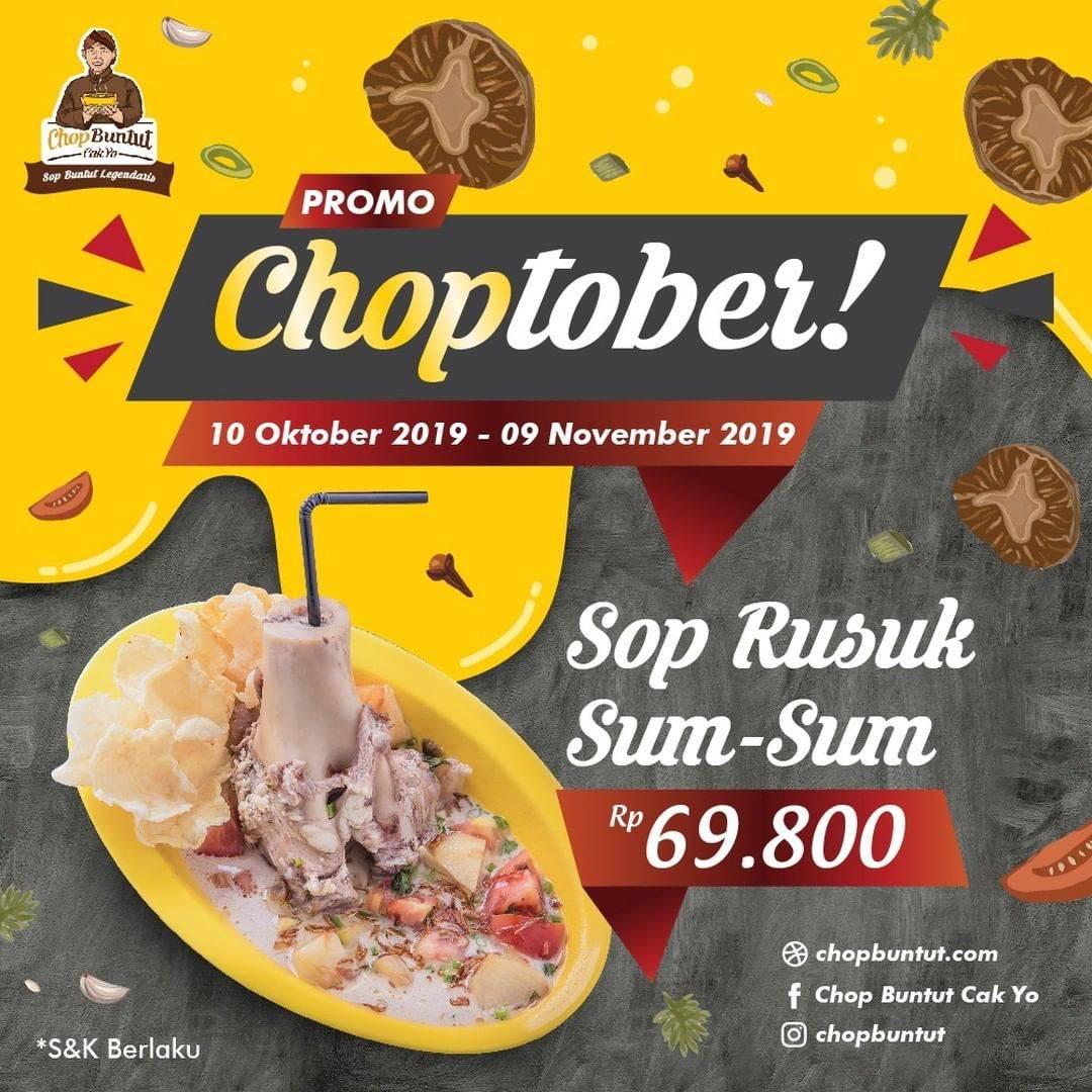 Chop Buntut Cak Yo Promo Choptober, Harga Spesial Untuk Menu Sop Rusuk Sum-Sum Hanya Rp. 69.800