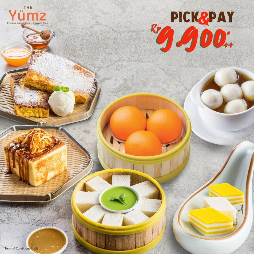 The Yumz Pick And Pay, Harga Spesial Menu Pilihan Cuma Rp. 9.900++