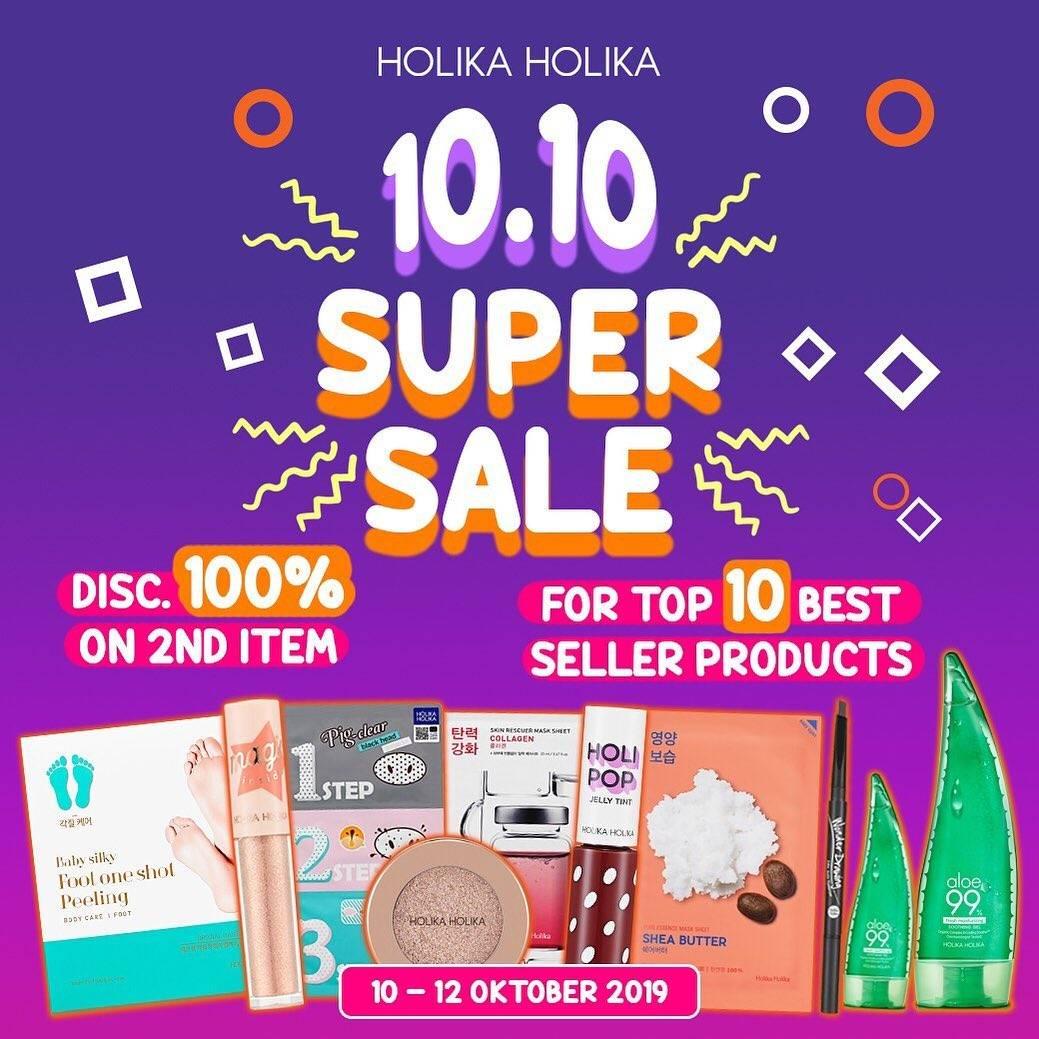 Holika Holika Promo 10.10 Super Sale Diskon 100% Untuk Produk Kedua