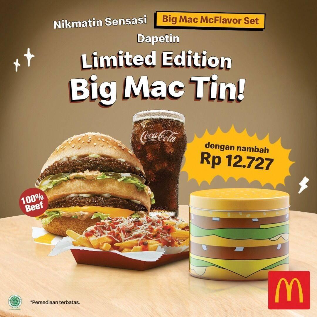 McDonalds Promo Limited Edition Big Mac Tin! Cukup Nambah Rp 12.727 Saja