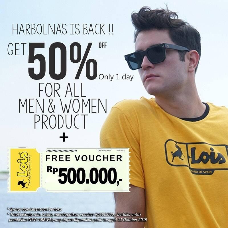 Lois Indonesia Promo Harbolnas, Discount 50% Untuk Semua Produk Pria & Wanita