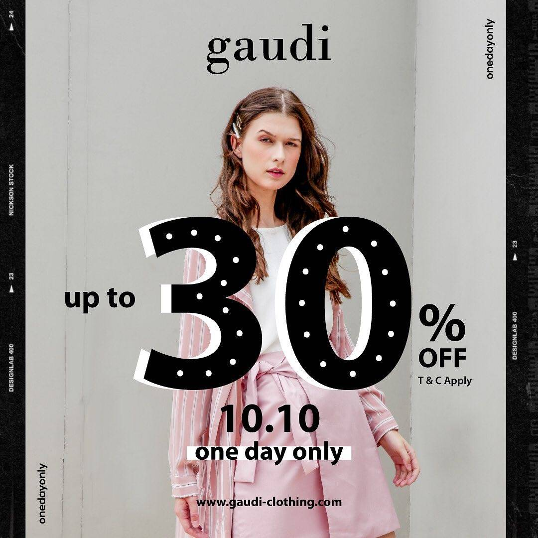 Diskon Gaudi Promo 10.10 Discount Up To 30% Off