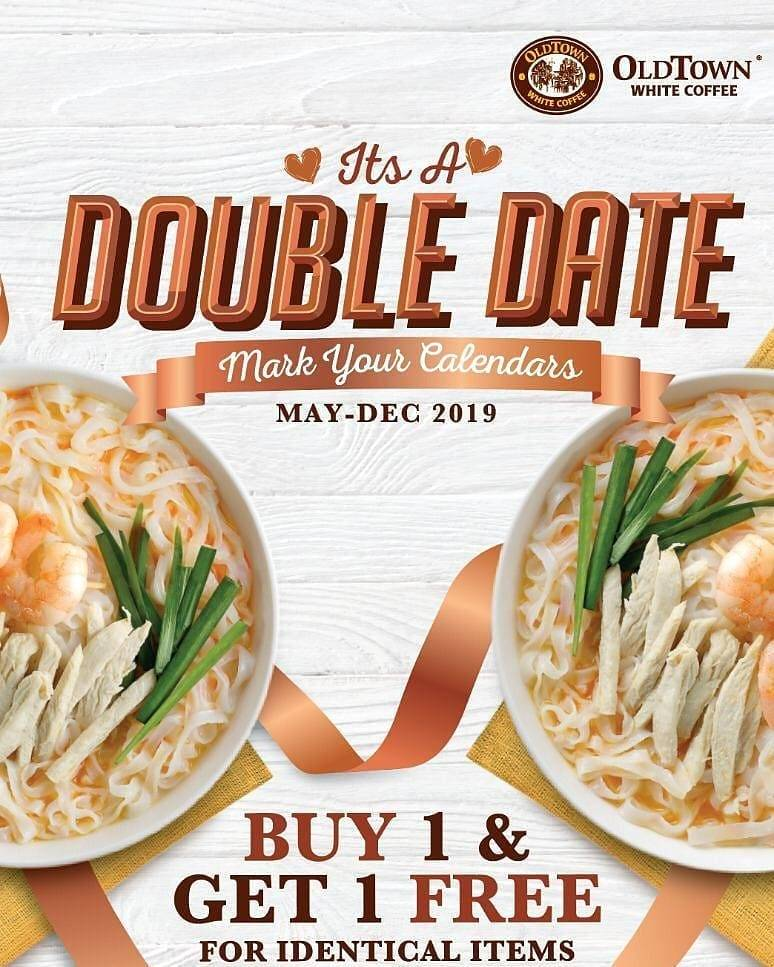 Old Town White Coffee Promo Buy 1 Get 1 Free For Identical Items