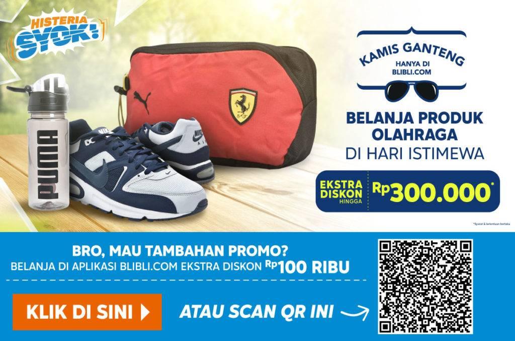 Blibli.com Promo Kamis Ganteng! Extra Disc Up To 15% Hingga Rp 300.000 Untuk Produk-Produk Keperluan
