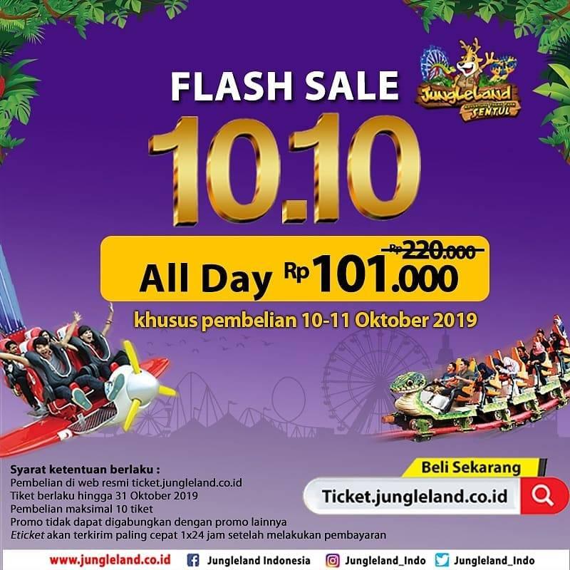 Diskon Jungleland Promo 10.10, Harga Spesial Tiket Masuk Hanya Rp. 101.000