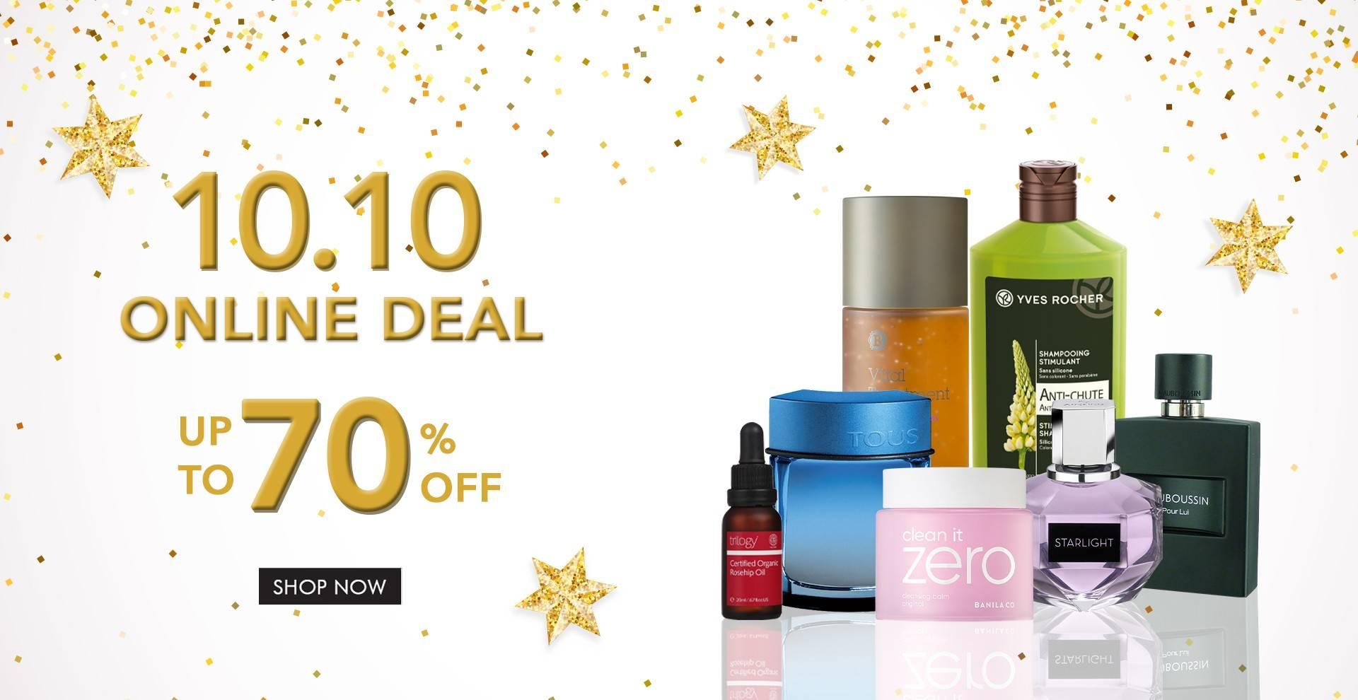 C&F Perfumery 10.10 Online Deal! Diskon Hingga 70%