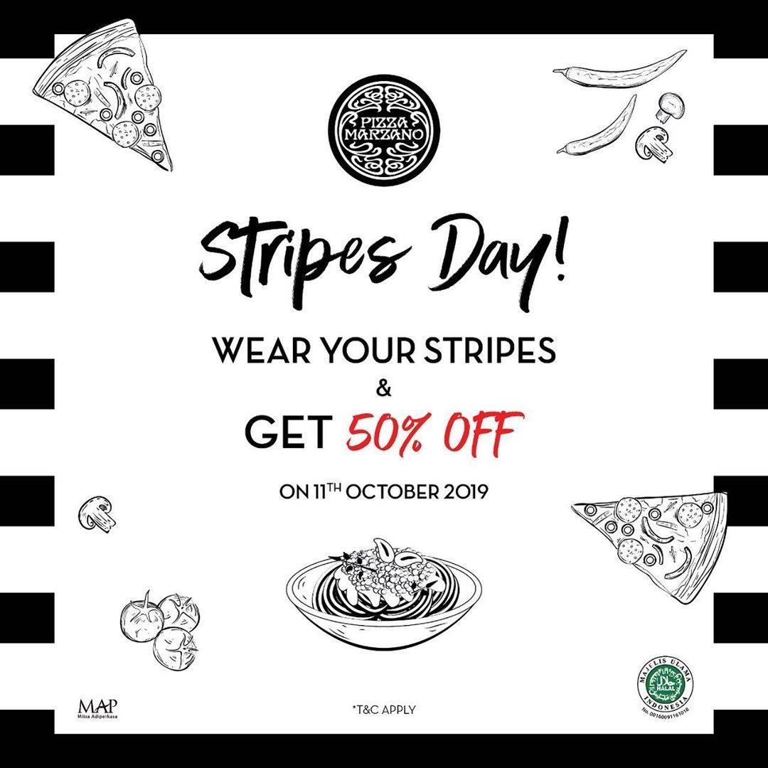 Pizza Marzano Stripes Day, Gunakan Baju Dengan Motif Garis-Garis Dan Nikmati Diskon Spesial 50% Off