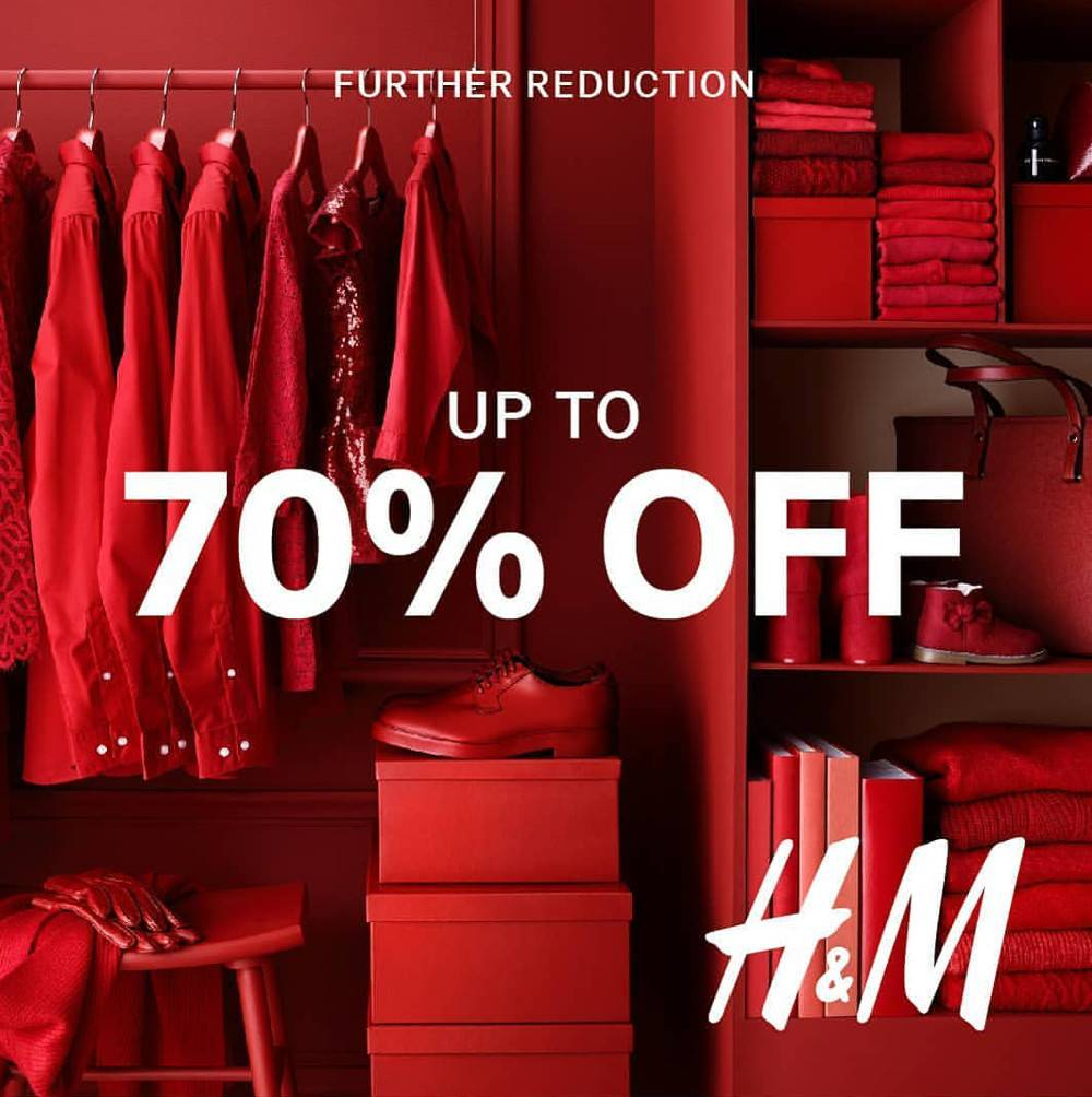 H&M Mid-Season Sale Further Reduction Up To 70% Off