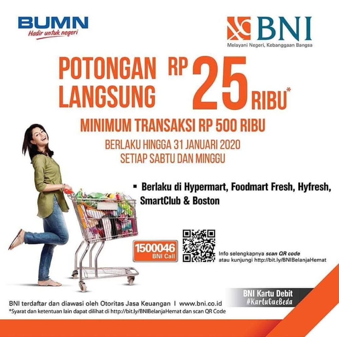Hypermart Promo Potongan Langsung Rp 25.000 Dengan Kartu Debit BNI