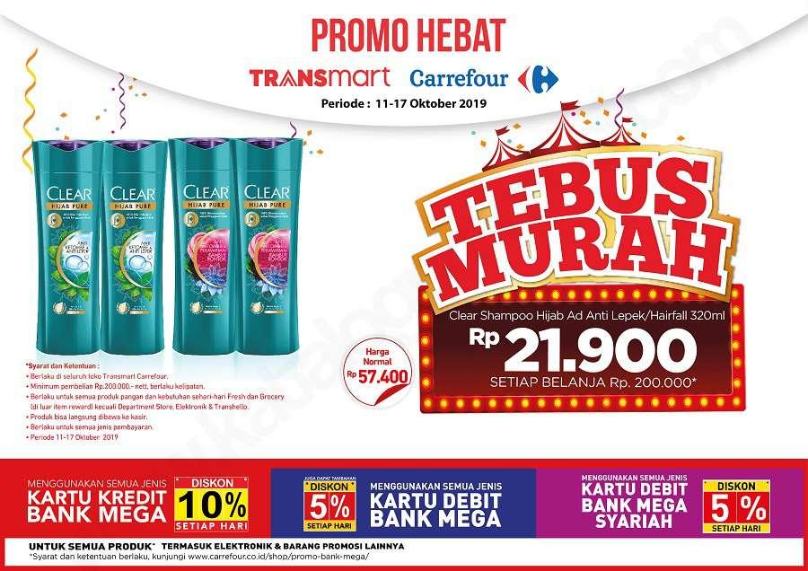 Transmart Carrefour Promo Tebus Murah Clear Shampoo Hijab Anti Lepek/Hairfall 320ml Hanya Rp 21.900