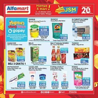 Katalog Alfamart JSM Promo Weekend Periode 11-13 Oktober 2019
