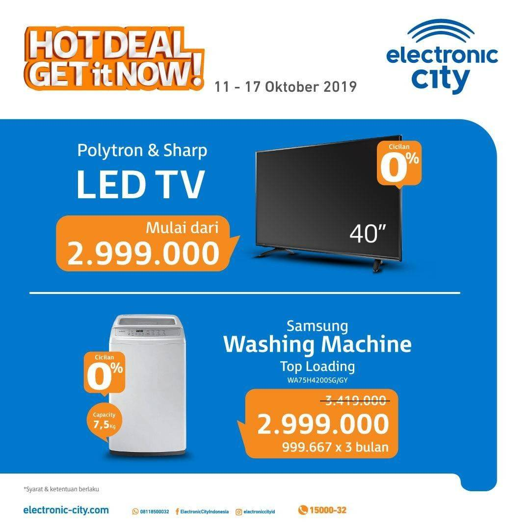 Diskon Electronic City Hot Deals Periode 11-17 Oktober 2019