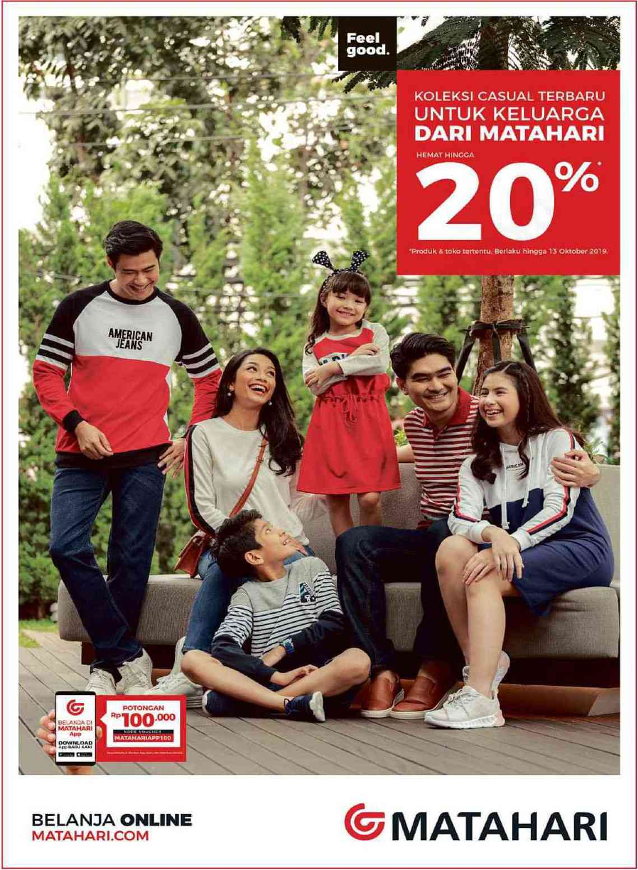 Matahari Department Store Promo Koleksi Casual Terbaru Untuk Keluarga, Hemat Hingga 20%