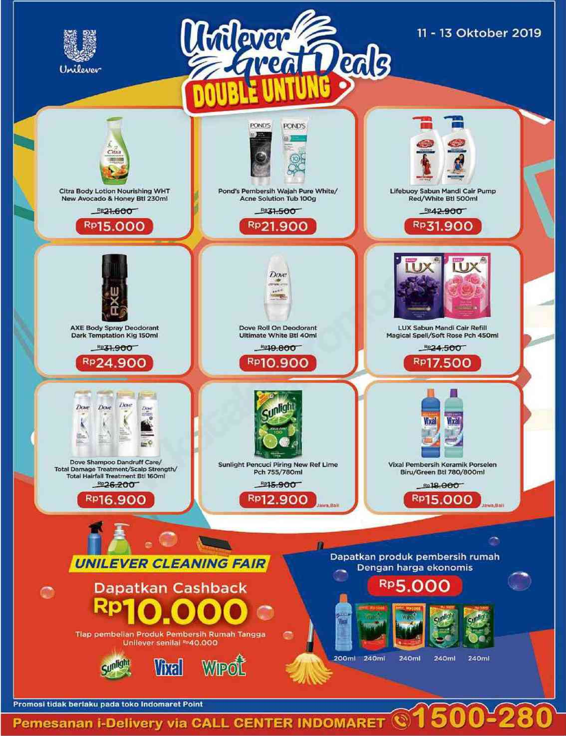 Indomaret Unilever Great Deals Periode 11-13 Oktober 2019