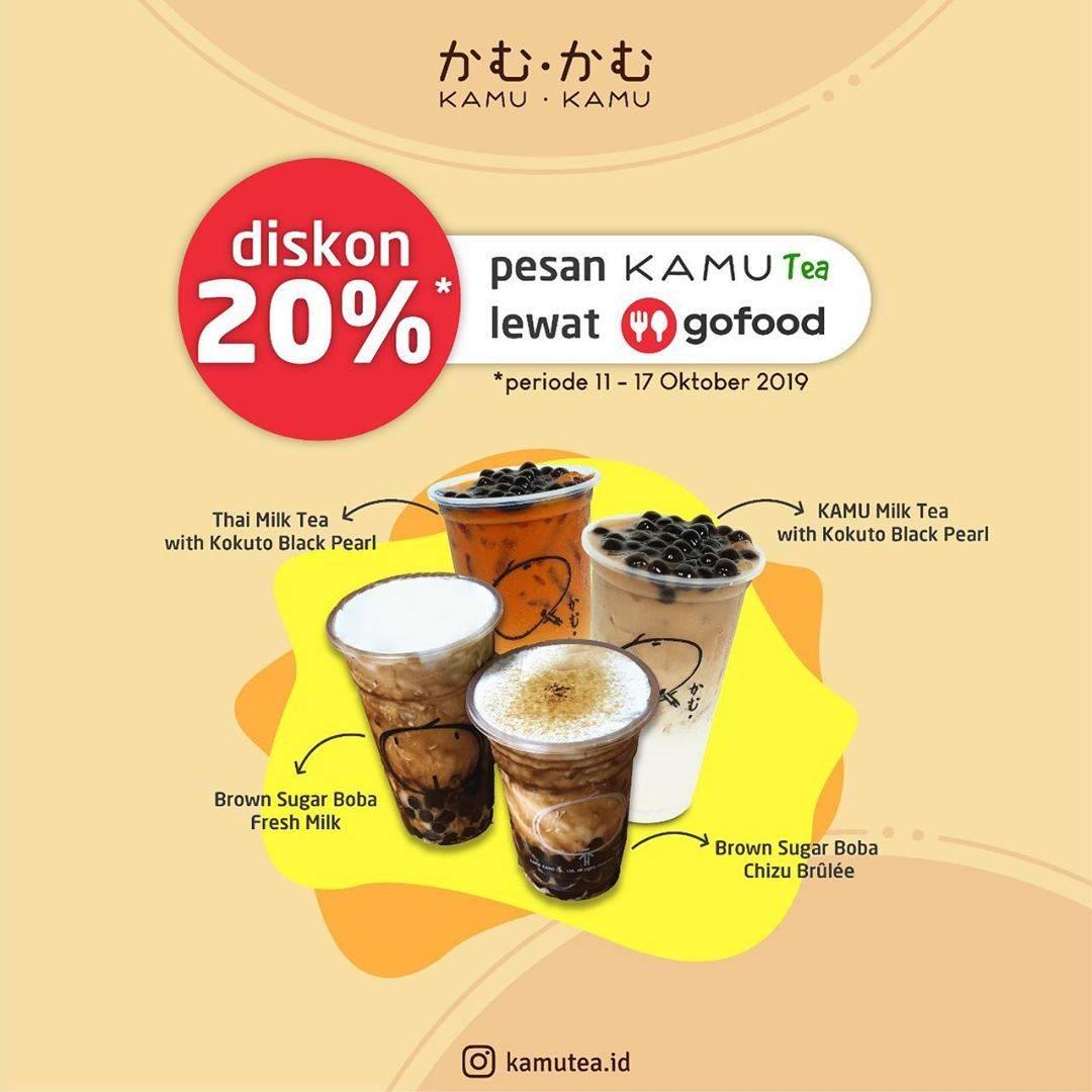 Kamu Tea Promo Diskon 20% Lewat Aplikasi GoFood