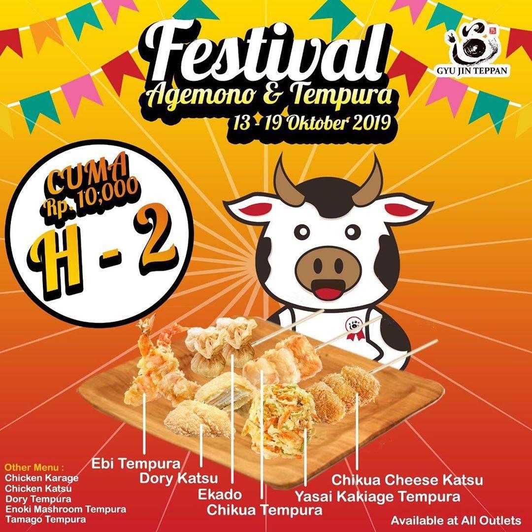 Gyu Jin Teppan Present Festival Agemono & Tempura