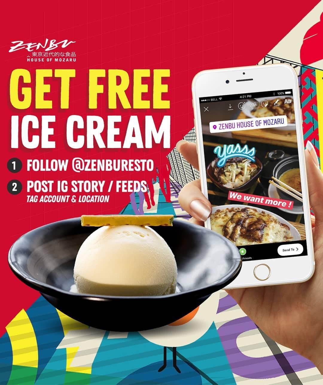 Zenbu Promo Gratis Ice Cream