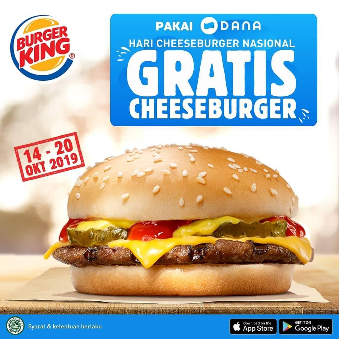 Burger King Promo Gratis Cheeseburger Di Hari Cheeseburger Nasional Dengan Dana
