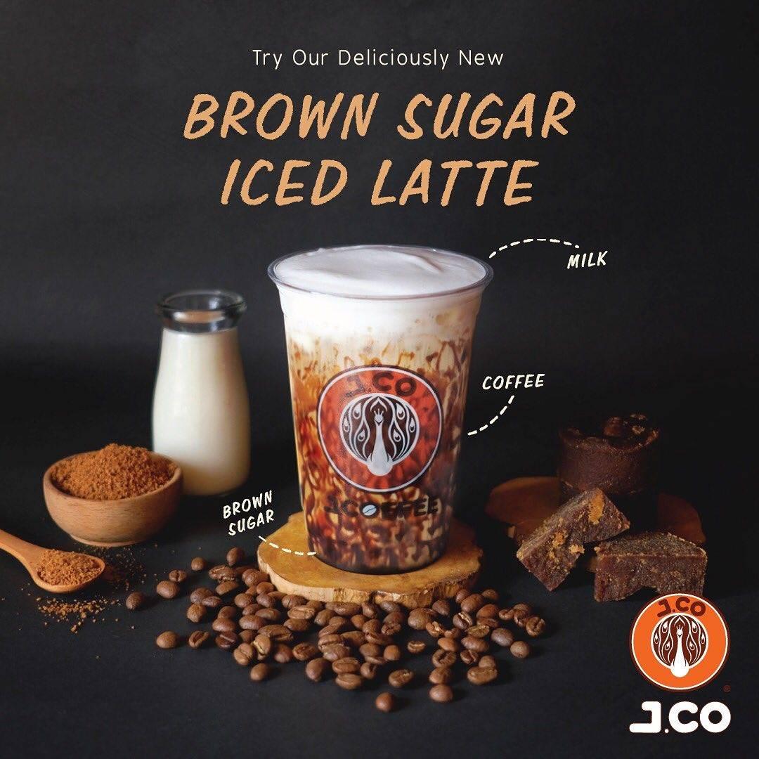 JCO New Brown Sugar Iced Latte, Harga Spesial Rp. 50.000 Untuk 2 Cup