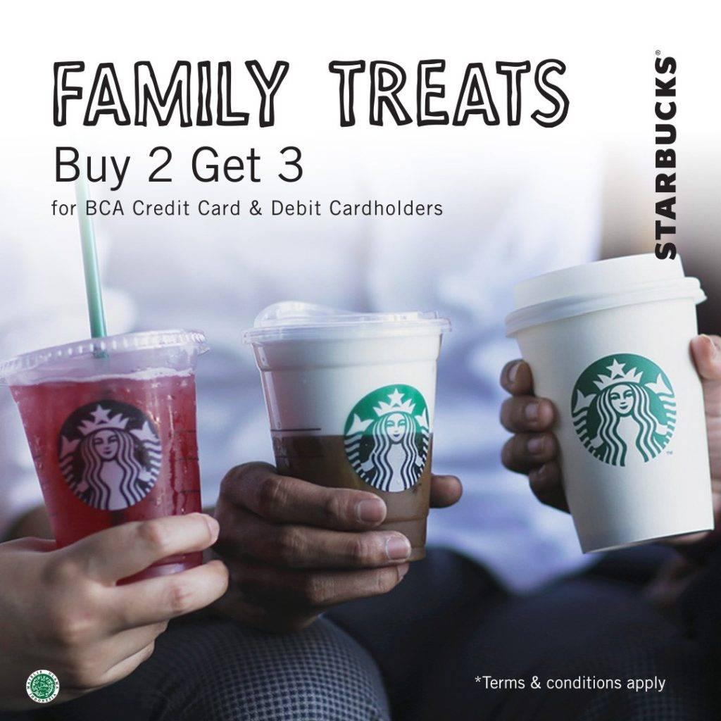 Starbucks Promo Buy 2 Get 1 Free Dengan Kartu Debit Dan Kartu Kredit BCA