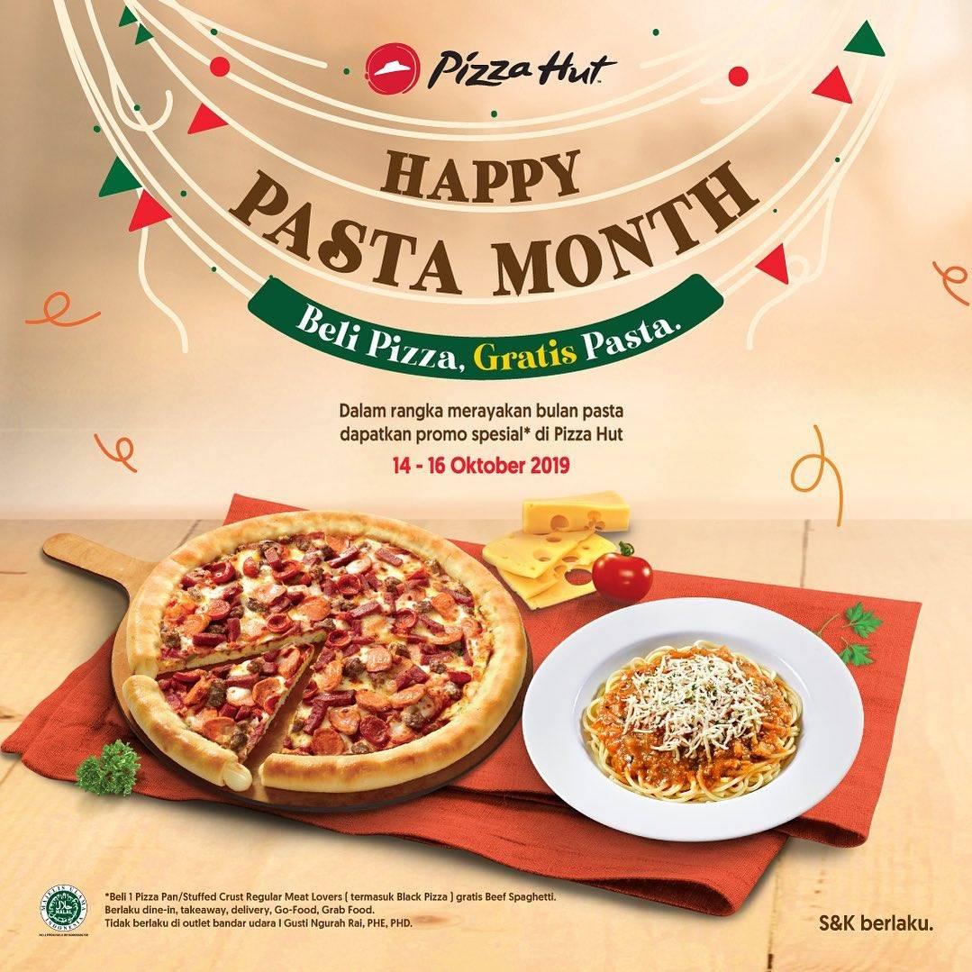 Pizza Hut Promo Happy Pasta Month, Beli Pizza Gratis Pasta
