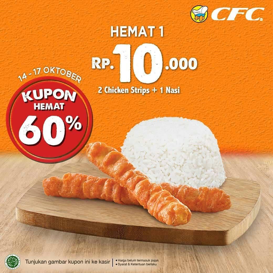 CFC Promo Kupon Paket Hemat, Harga Spesial Mulai Rp. 10.000 Saja