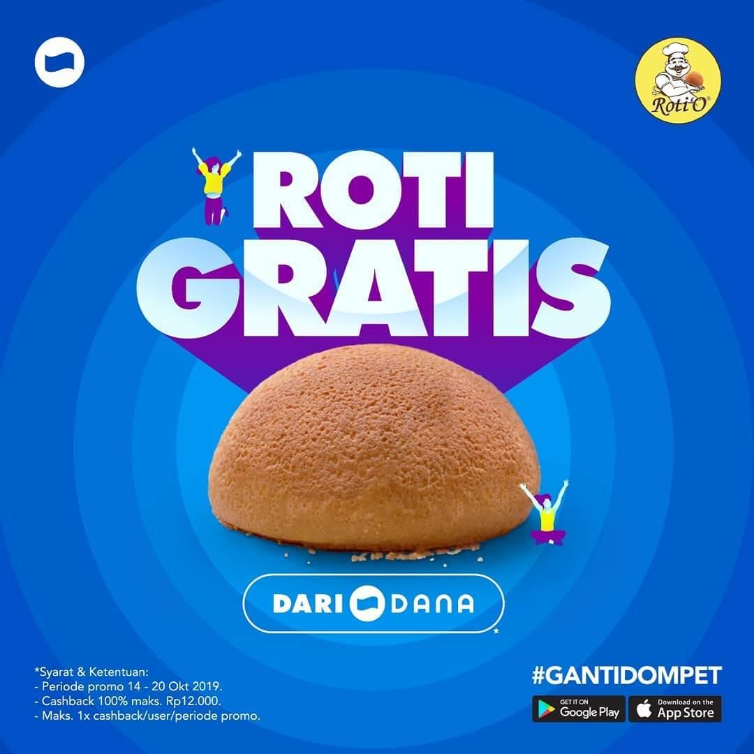 Roti'o Promo Roti Gratis Khusus Transaksi Dengan Dana