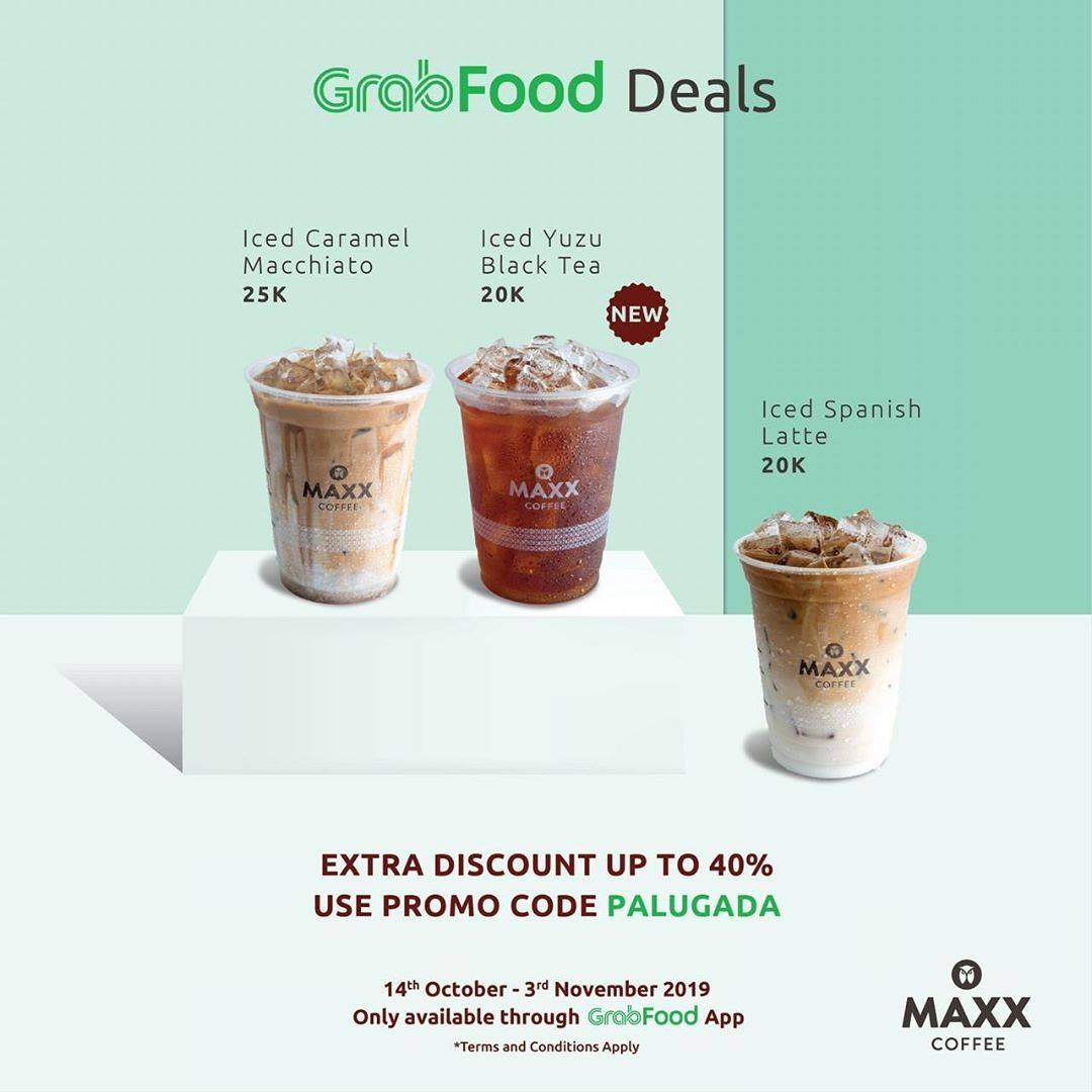 Maxx Coffee Promo Grabfood Deals Mulai Rp 20.000 + Extra Diskon Sampai 40%