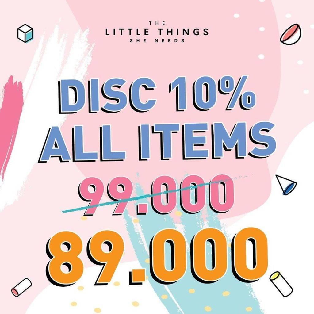 Diskon The Little Things She Needs 10VE YOU Diskon 10% off Semua items