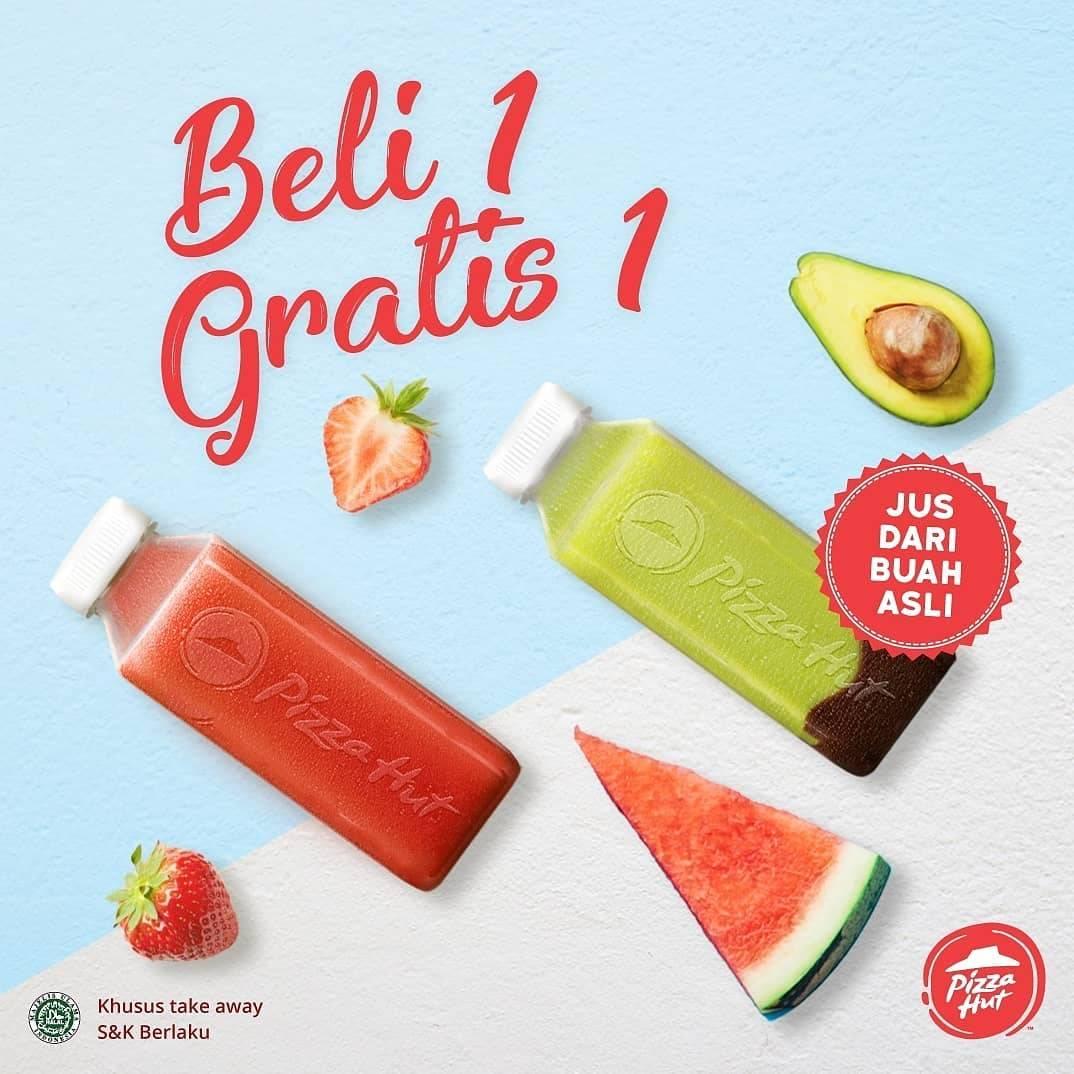 Pizza Hut Promo BELI 1 GRATIS 1 JUS