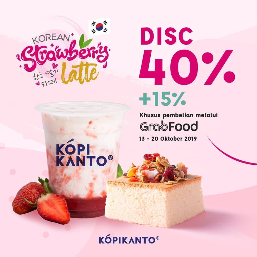 Kopi Kanto Promo Discount 40% + 15% via GrabFood