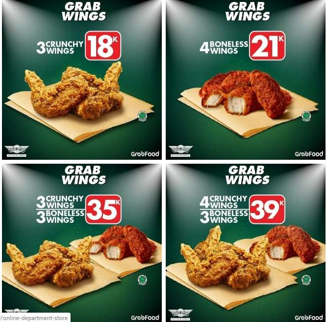 Diskon Wingstop Promo Paket Spesial GrabWings via GrabFood