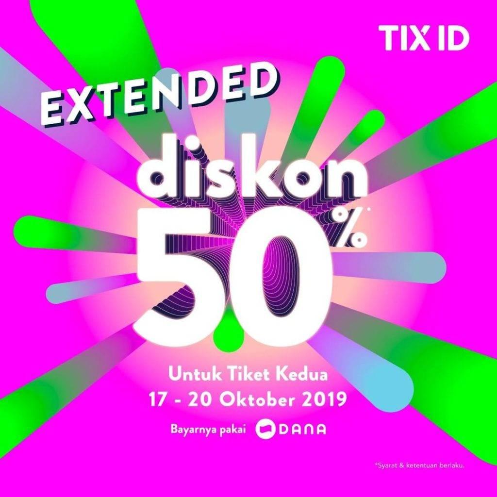 TIX ID Promo Diskon 50% Untuk Tiket Kedua Semua Judul Film