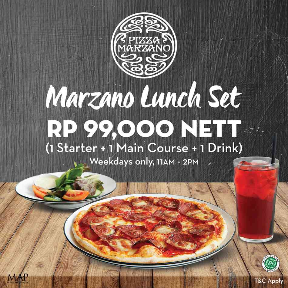 Pizza Marzano Promo Lunch Set Rp. 99.000