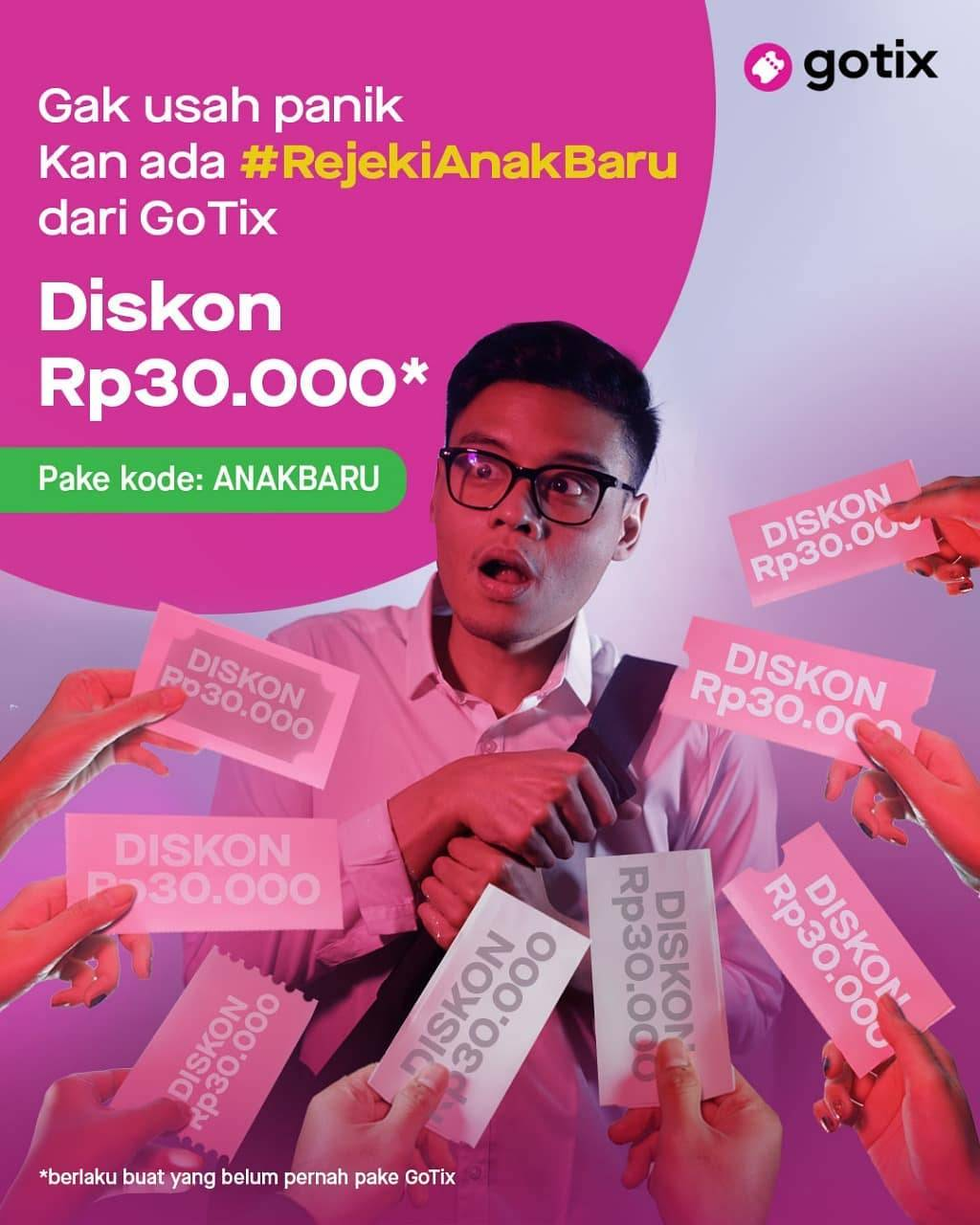 Diskon Gotix Promo Diskon Rp30.000 Buat Kamu si Anak Baru