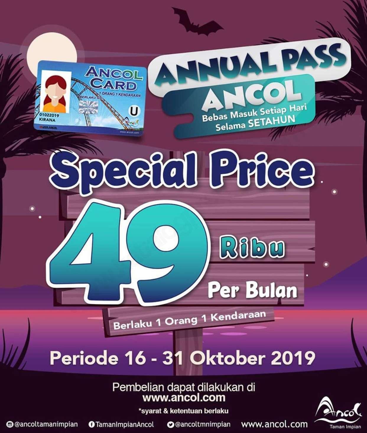 Ancol Taman Impian Promo Annual Pass hanya 49.000/bulan