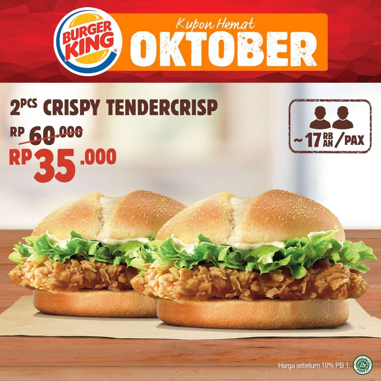 Burger King Promo Kupon Hemat Oktober 2019 Diskon Hingga